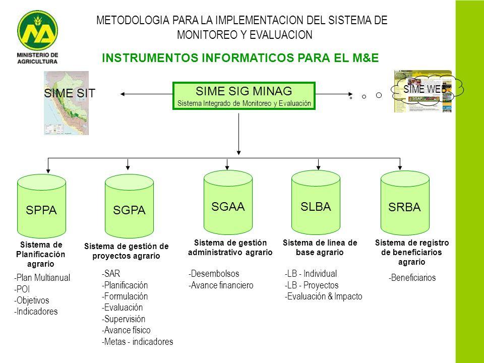 INSTRUMENTOS INFORMATICOS PARA EL M&E