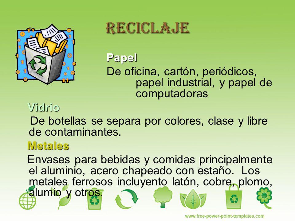 Reciclaje ppt video online descargar for Papel para oficina