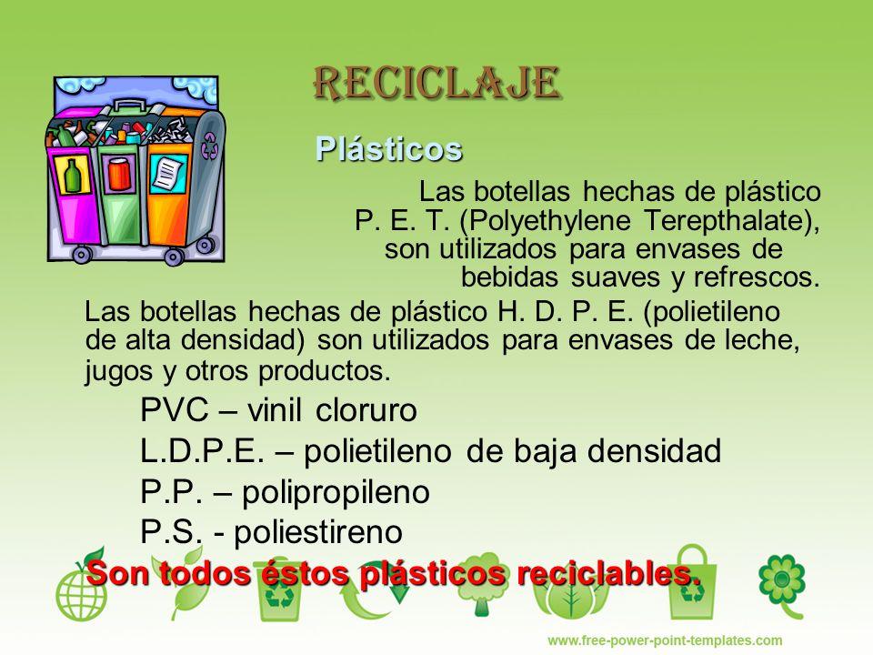 Reciclaje Plásticos.