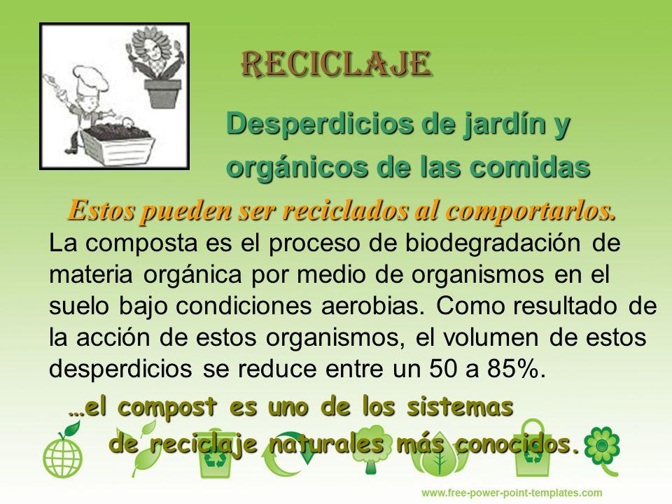de reciclaje naturales más conocidos.