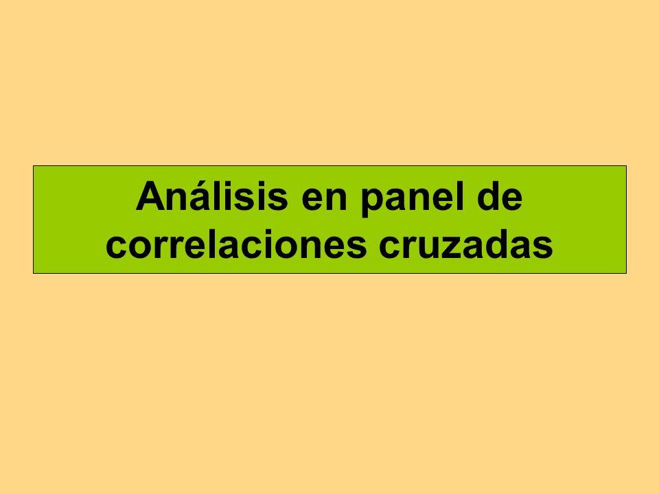 Análisis en panel de correlaciones cruzadas