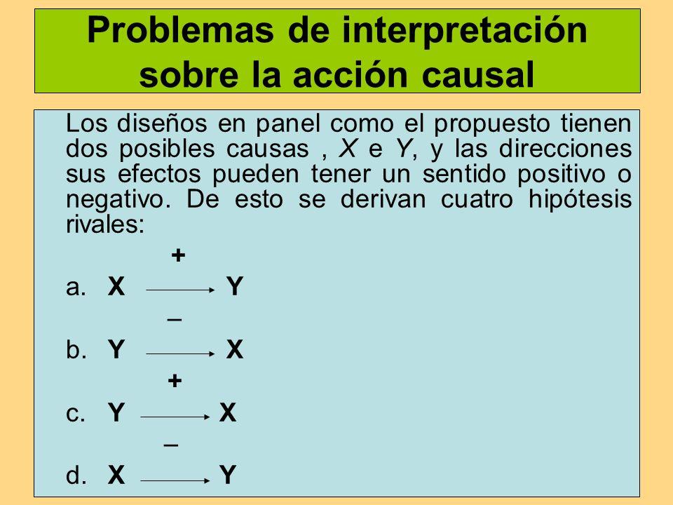 Problemas de interpretación sobre la acción causal