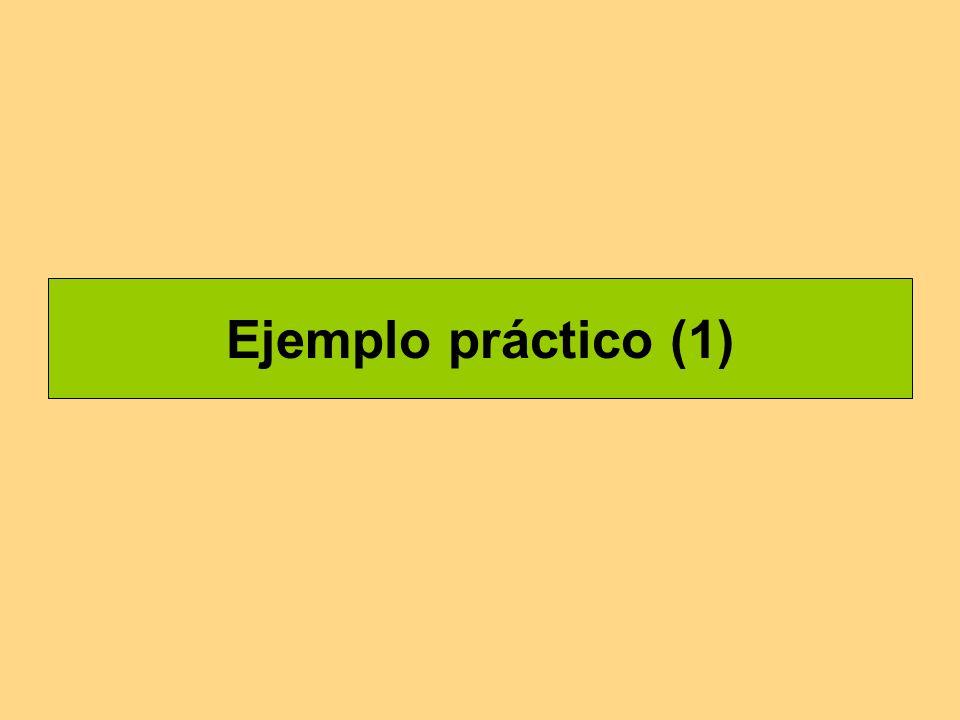 Ejemplo práctico (1)