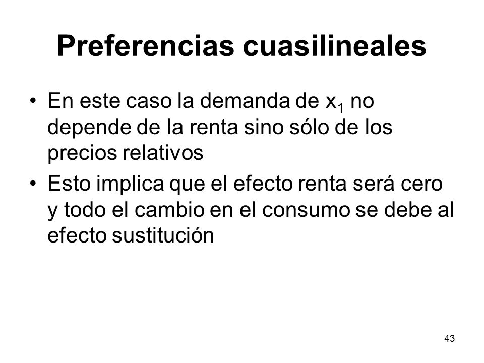 Preferencias cuasilineales