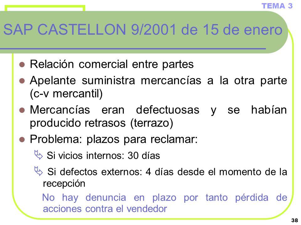 SAP CASTELLON 9/2001 de 15 de enero