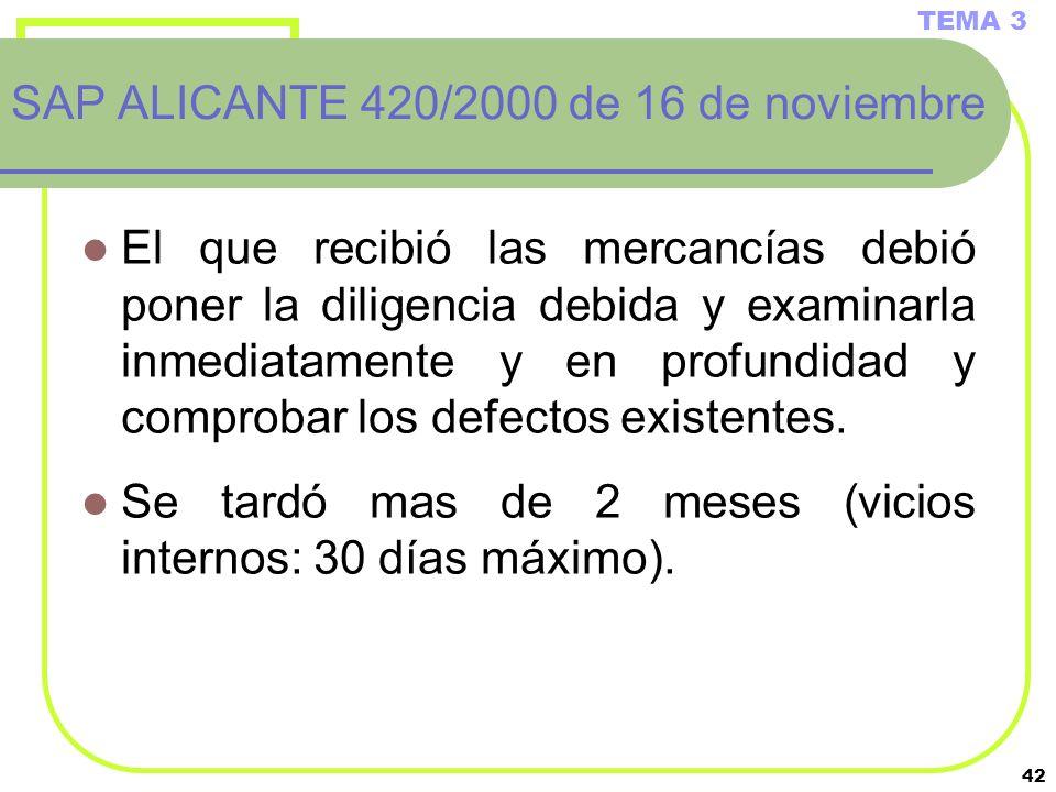 SAP ALICANTE 420/2000 de 16 de noviembre