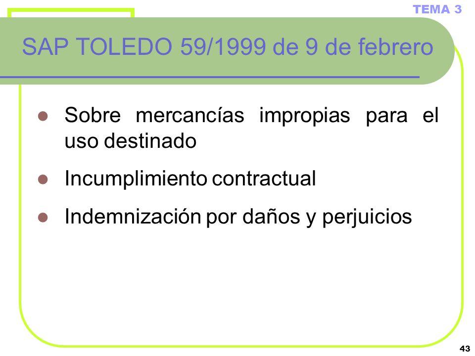 SAP TOLEDO 59/1999 de 9 de febrero