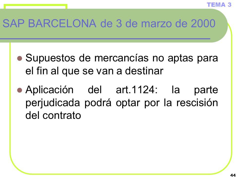 SAP BARCELONA de 3 de marzo de 2000