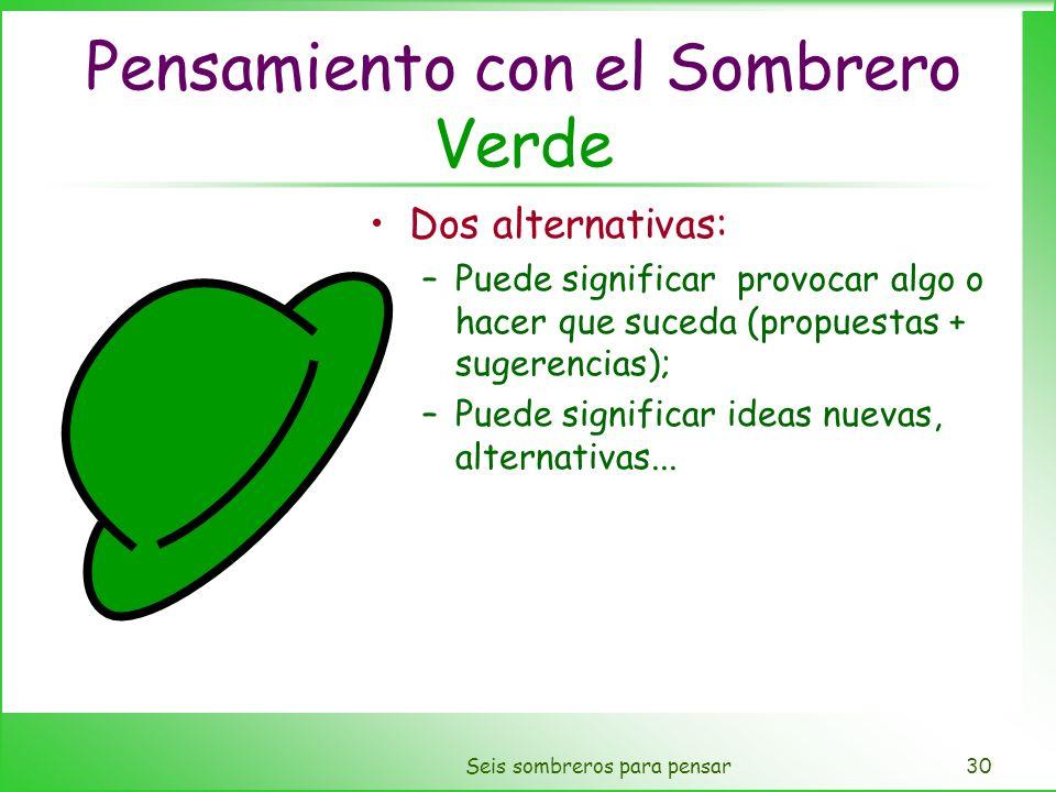 Pensamiento con el Sombrero Verde
