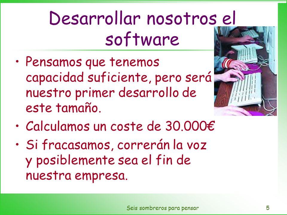 Desarrollar nosotros el software