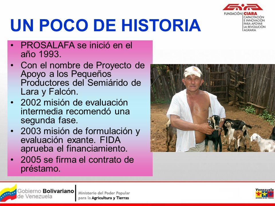UN POCO DE HISTORIA PROSALAFA se inició en el año 1993.