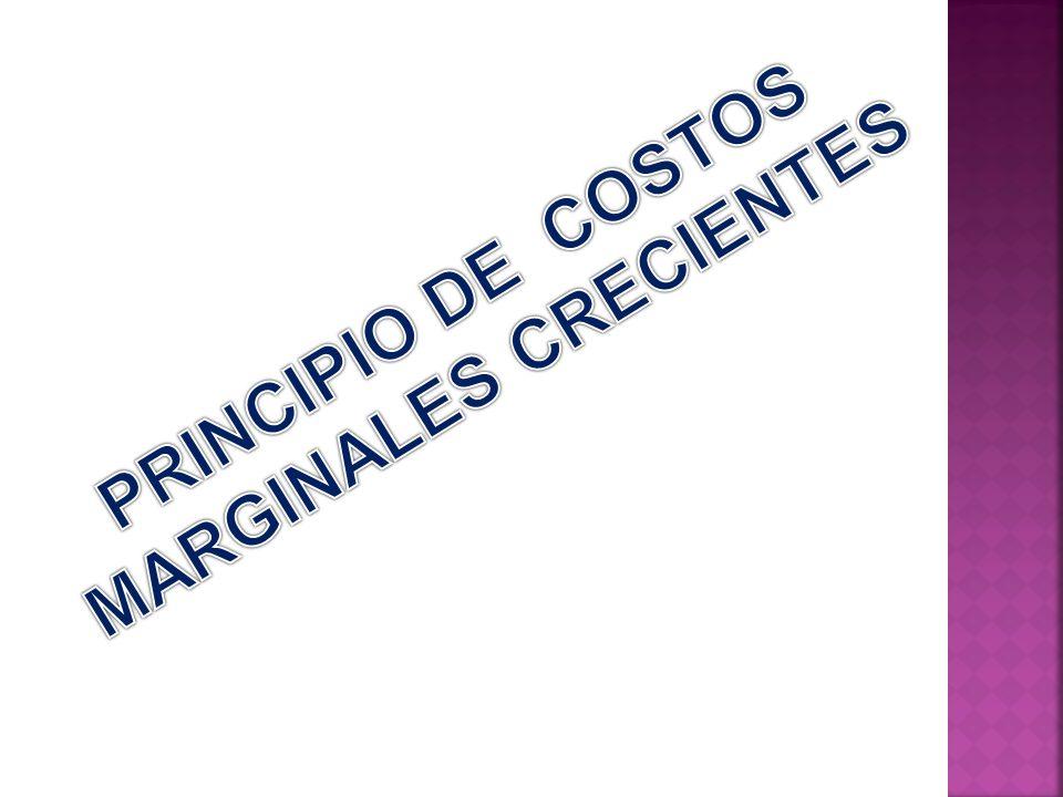 PRINCIPIO DE COSTOS MARGINALES CRECIENTES
