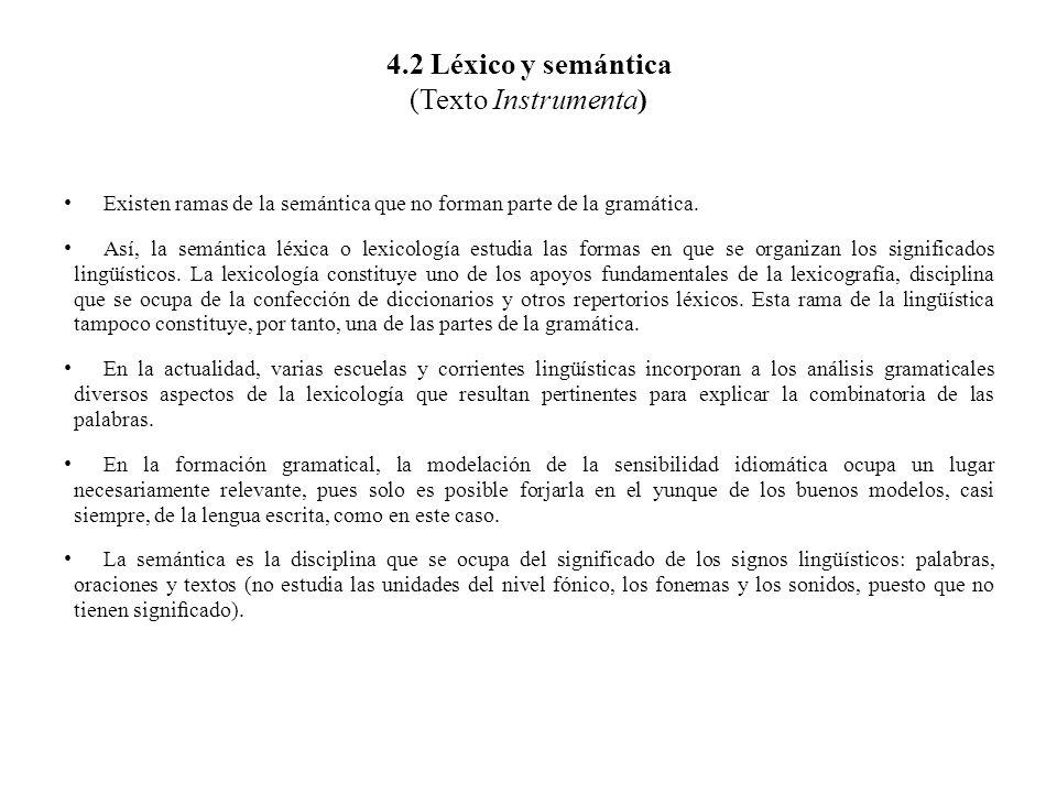 4.2 Léxico y semántica (Texto Instrumenta)