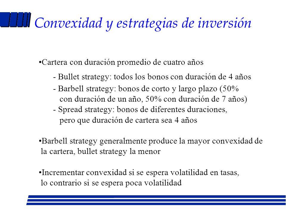 Convexidad y estrategias de inversión