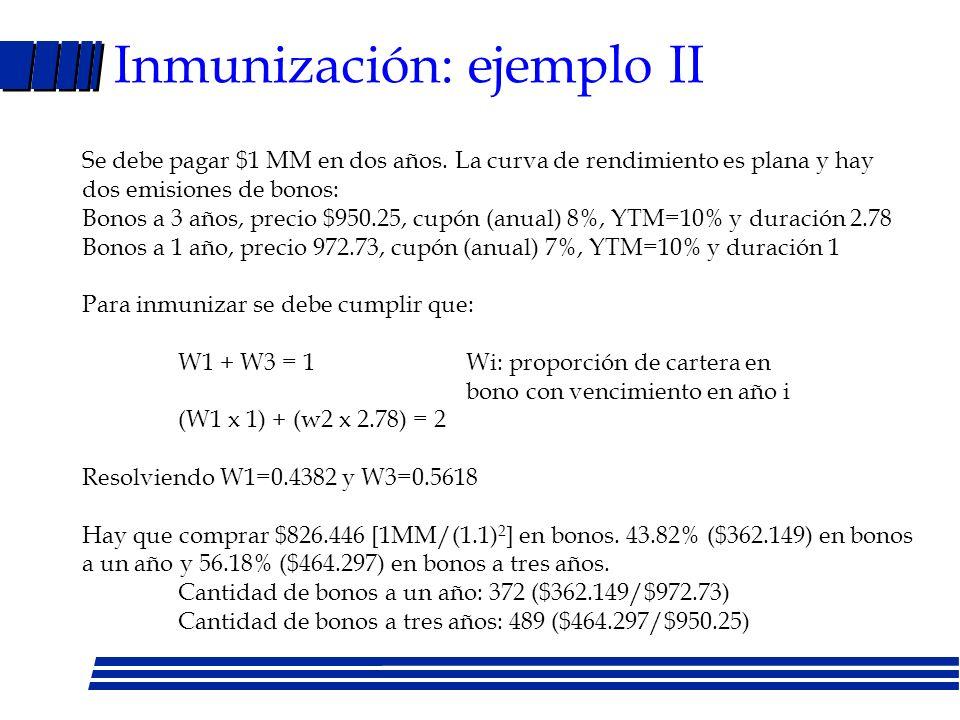 Inmunización: ejemplo II