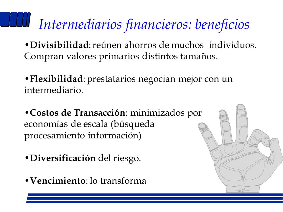 Intermediarios financieros: beneficios