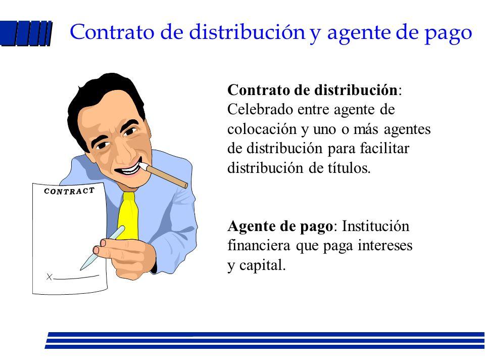 Contrato de distribución y agente de pago