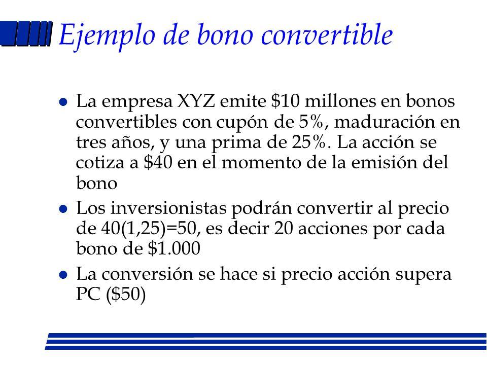 Ejemplo de bono convertible