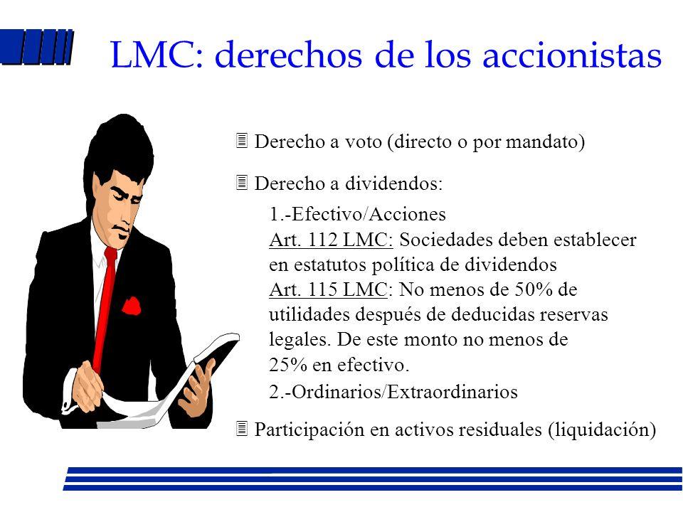LMC: derechos de los accionistas