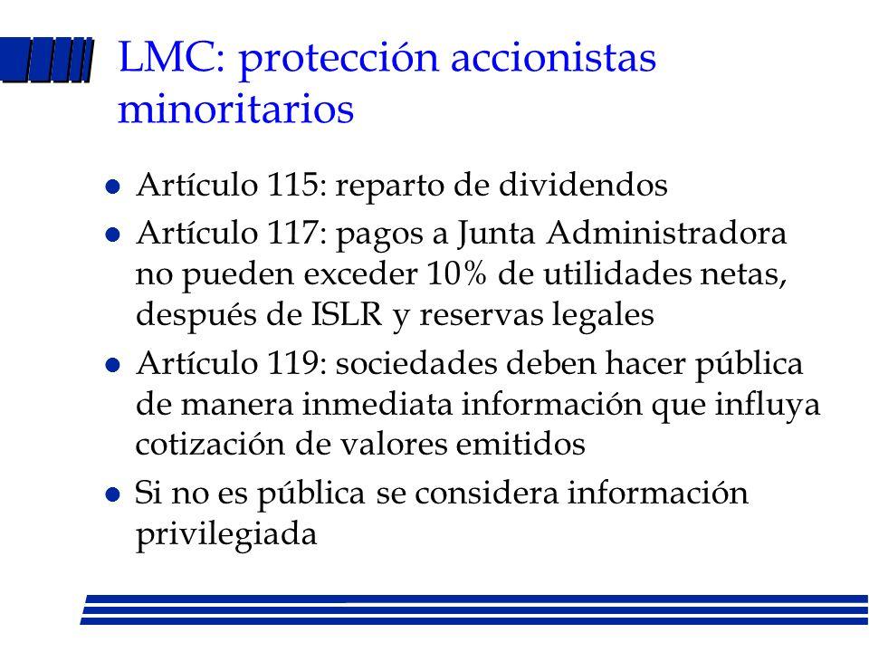 LMC: protección accionistas minoritarios
