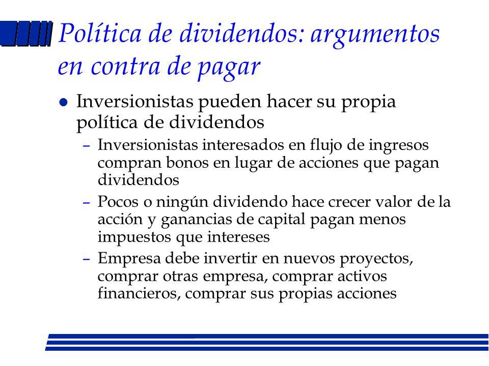 Política de dividendos: argumentos en contra de pagar
