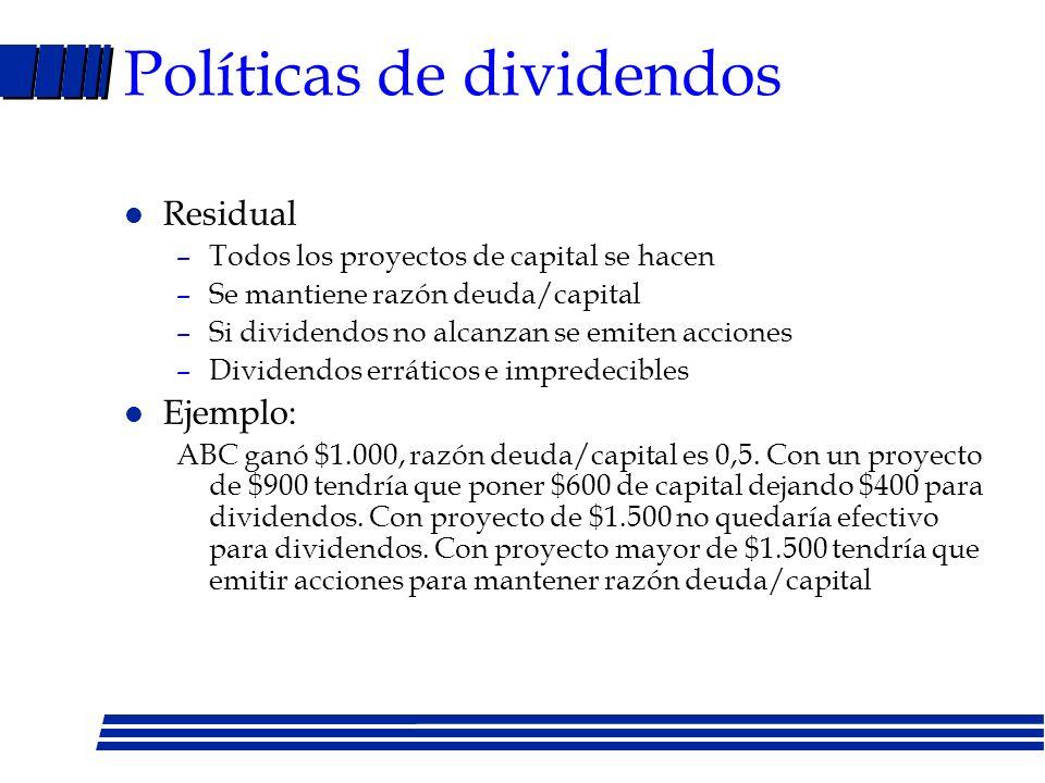 Políticas de dividendos