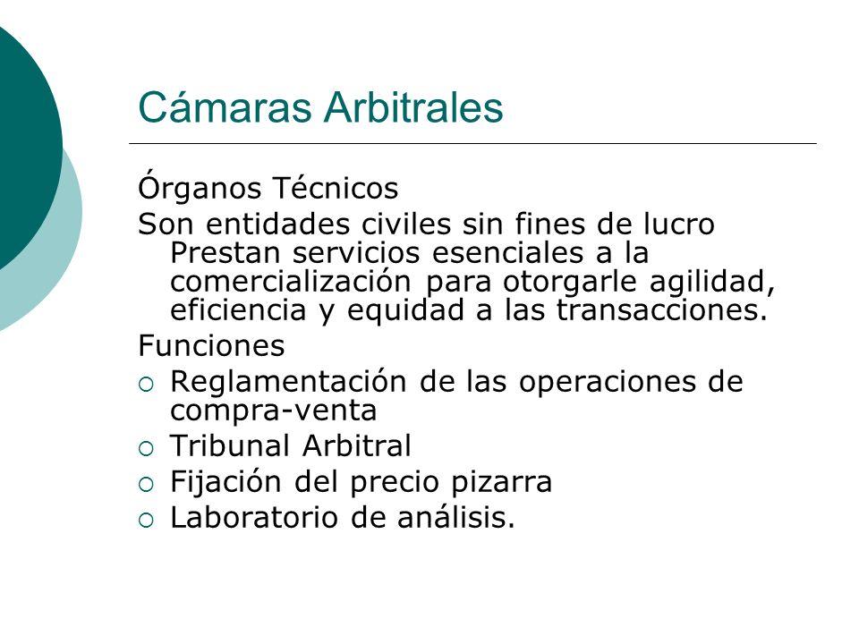 Cámaras Arbitrales Órganos Técnicos