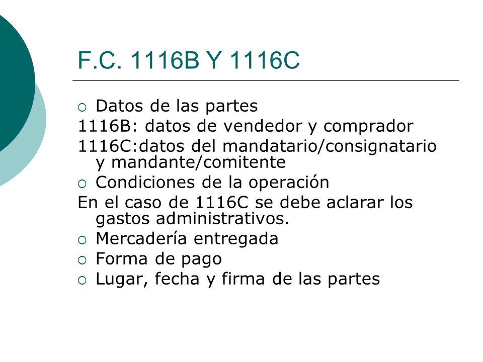 F.C. 1116B Y 1116C Datos de las partes