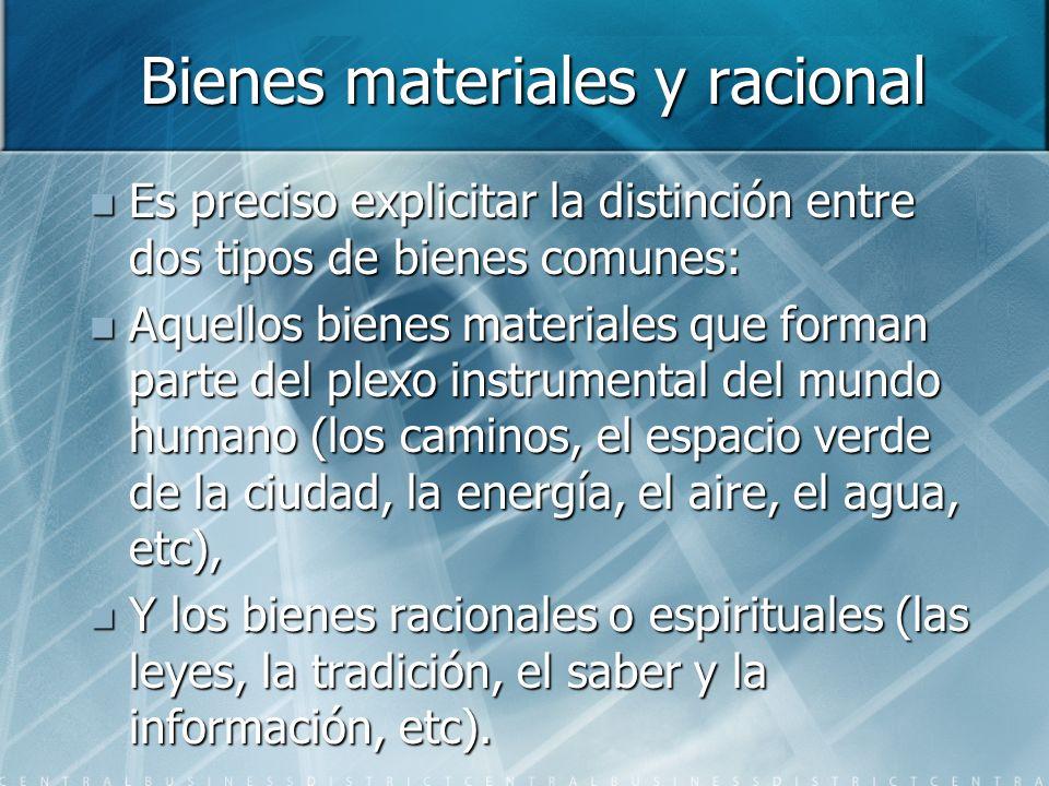 Bienes materiales y racional