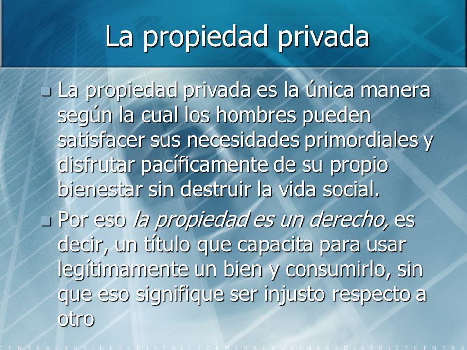 La propiedad privada