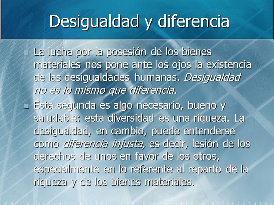 Desigualdad y diferencia