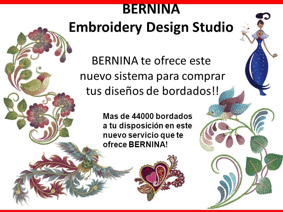 BERNINA Embroidery Design Studio BERNINA te ofrece este nuevo sistema para comprar tus diseños de bordados!!