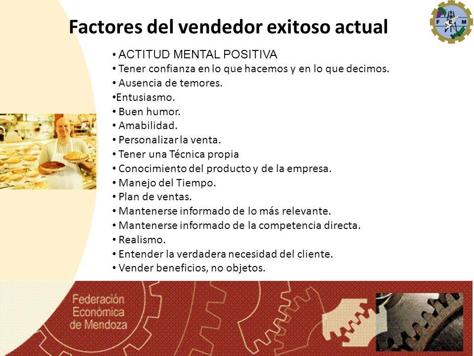 Factores del vendedor exitoso actual