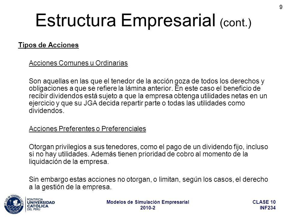Estructura Empresarial (cont.)