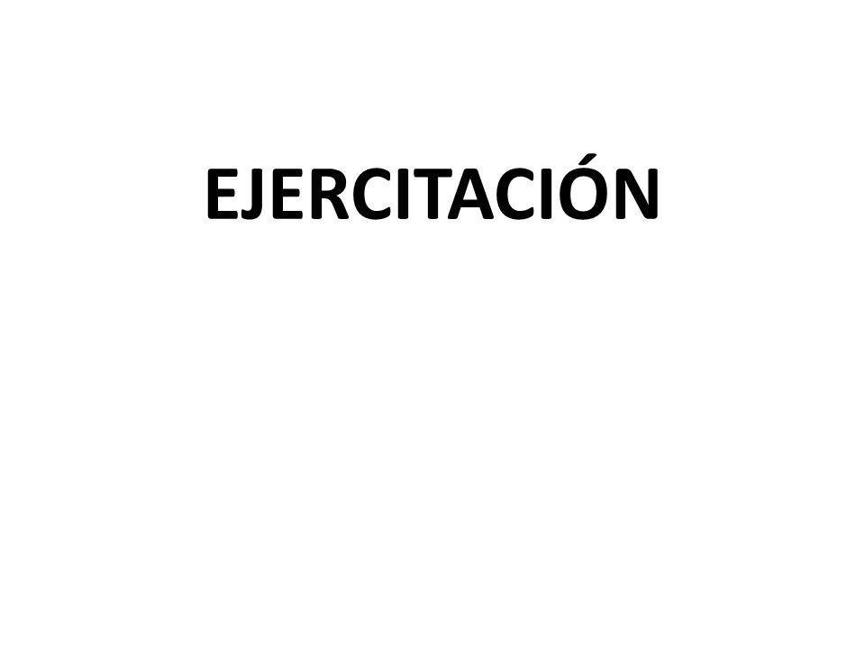 EJERCITACIÓN