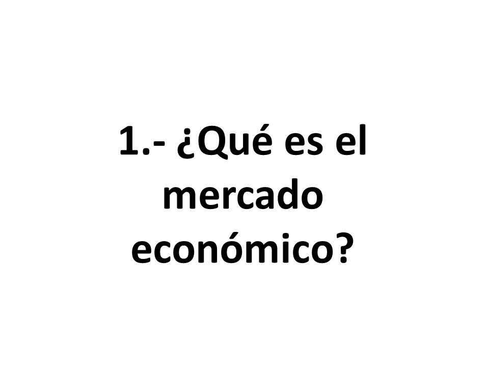 1.- ¿Qué es el mercado económico