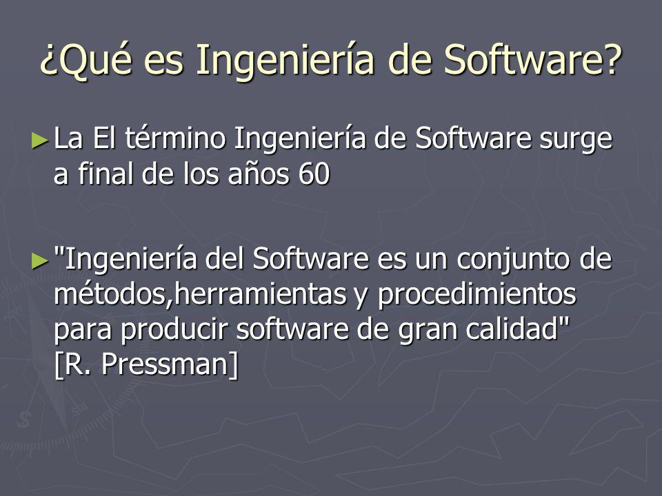 ¿Qué es Ingeniería de Software