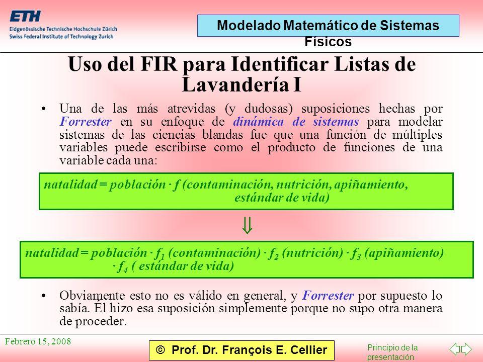 Uso del FIR para Identificar Listas de Lavandería I