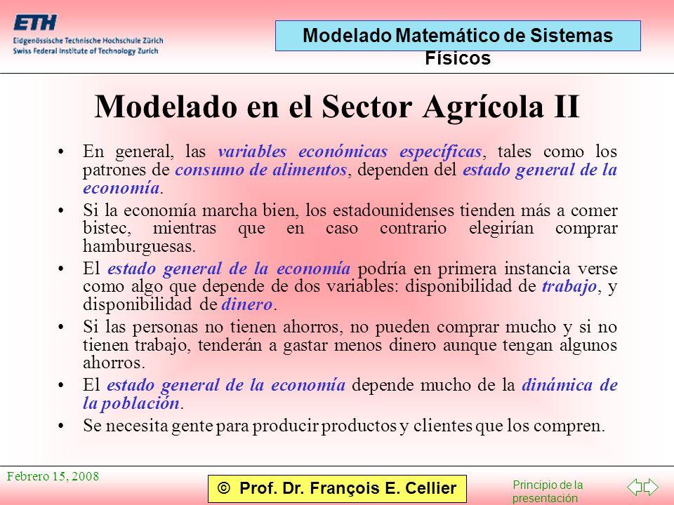 Modelado en el Sector Agrícola II