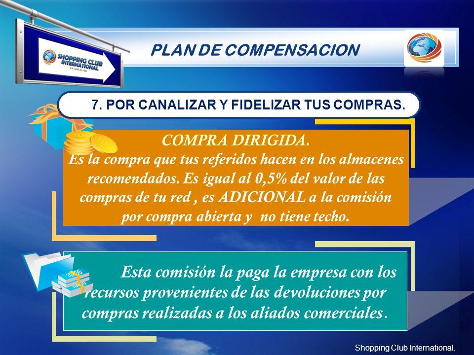 PLAN DE COMPENSACION 7. POR CANALIZAR Y FIDELIZAR TUS COMPRAS. COMPRA DIRIGIDA.
