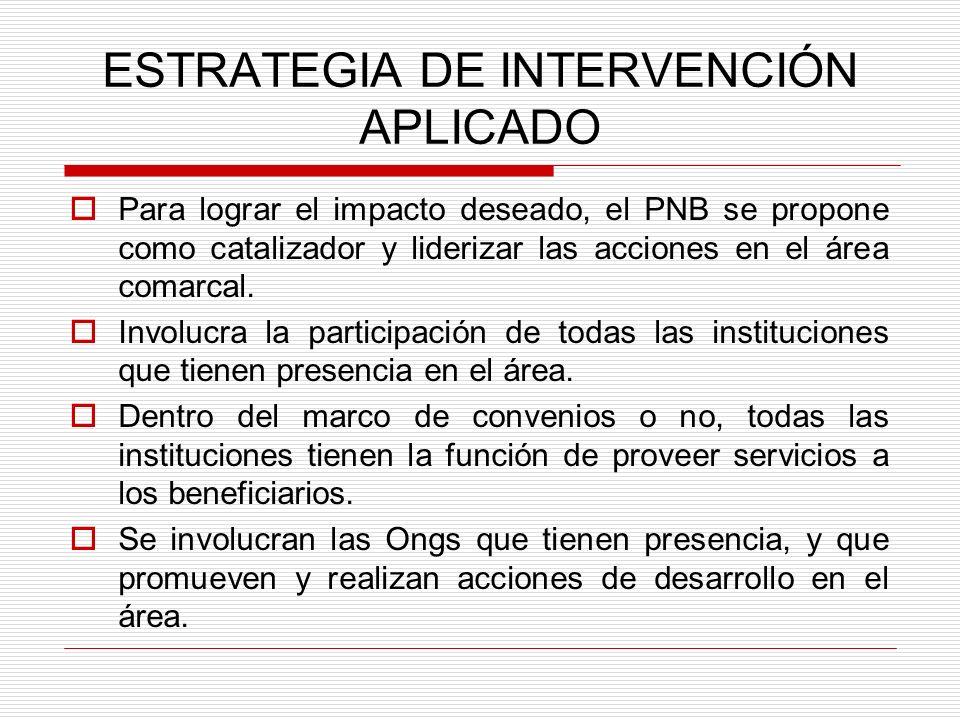 ESTRATEGIA DE INTERVENCIÓN APLICADO