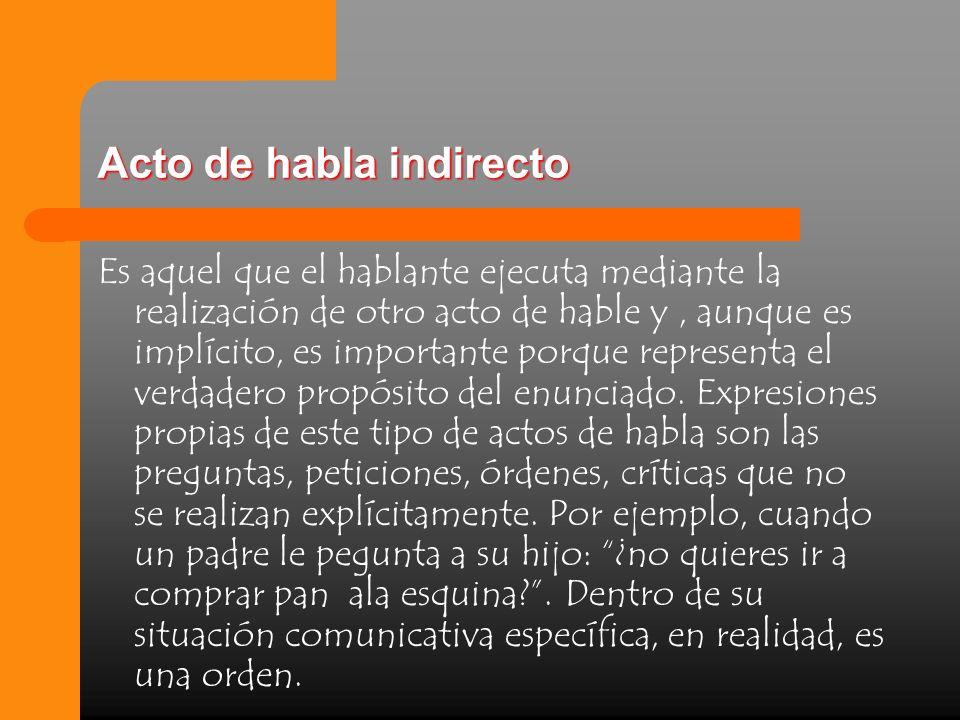 Acto de habla indirecto
