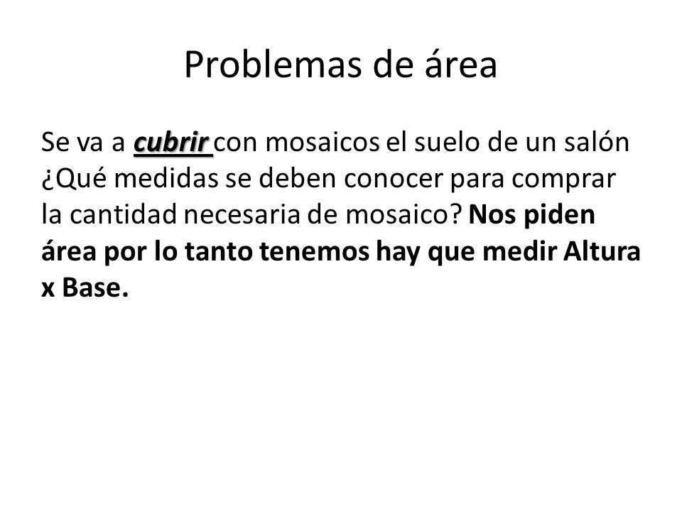 Problemas de área