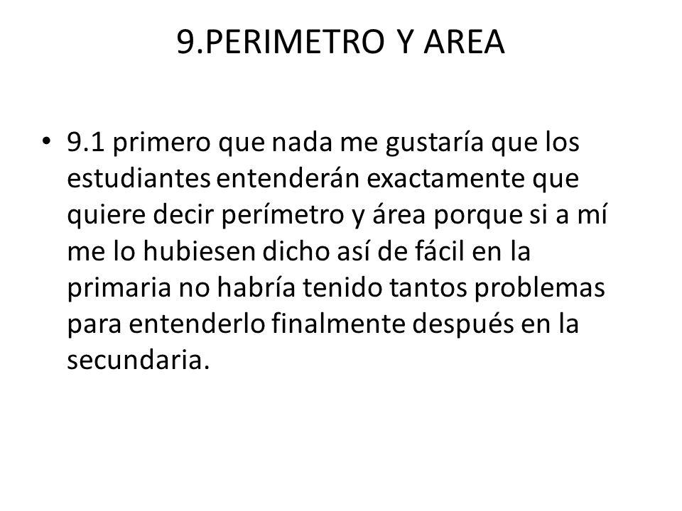 9.PERIMETRO Y AREA
