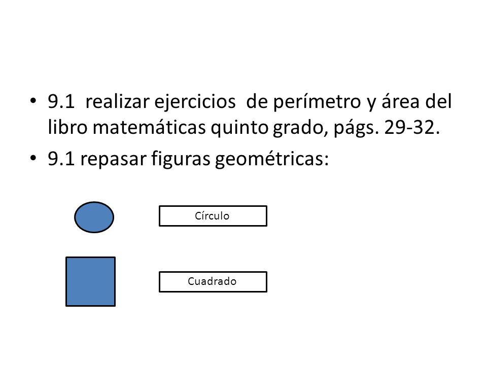 9.1 repasar figuras geométricas: