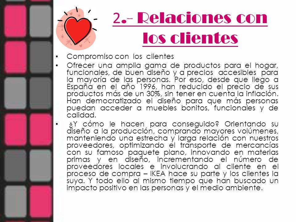 2.- Relaciones con los clientes