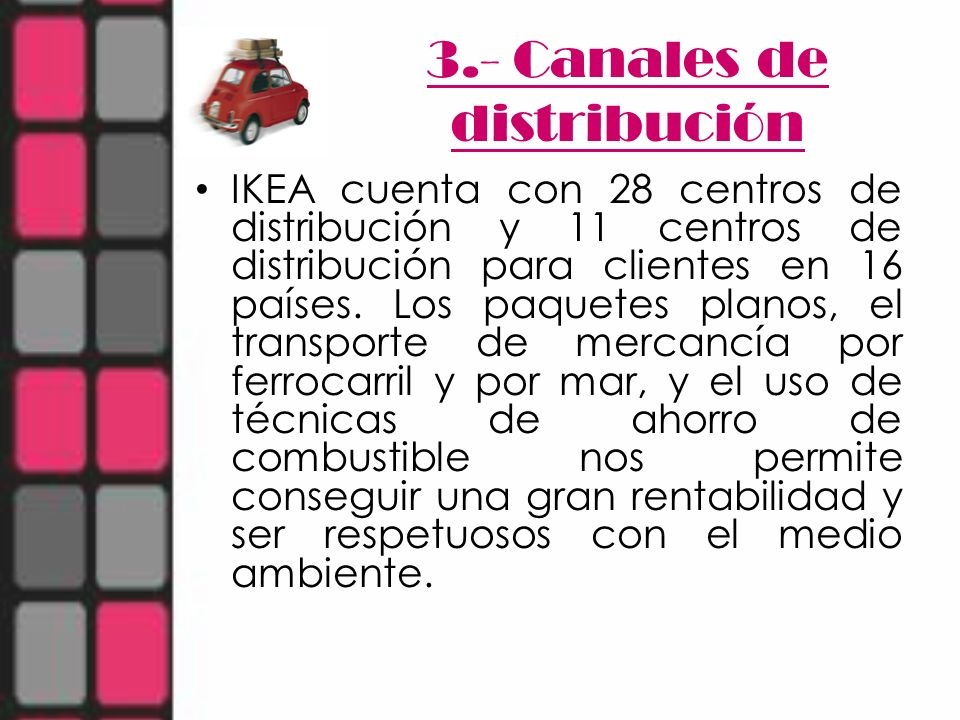 3.- Canales de distribución