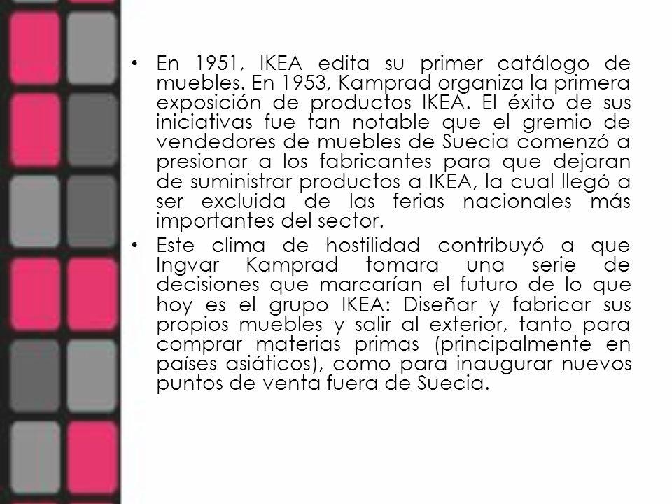 En 1951, IKEA edita su primer catálogo de muebles