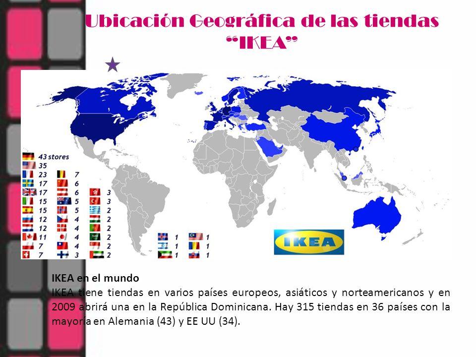 Ubicación Geográfica de las tiendas IKEA