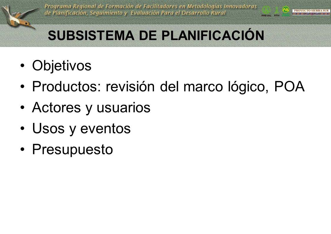 SUBSISTEMA DE PLANIFICACIÓN